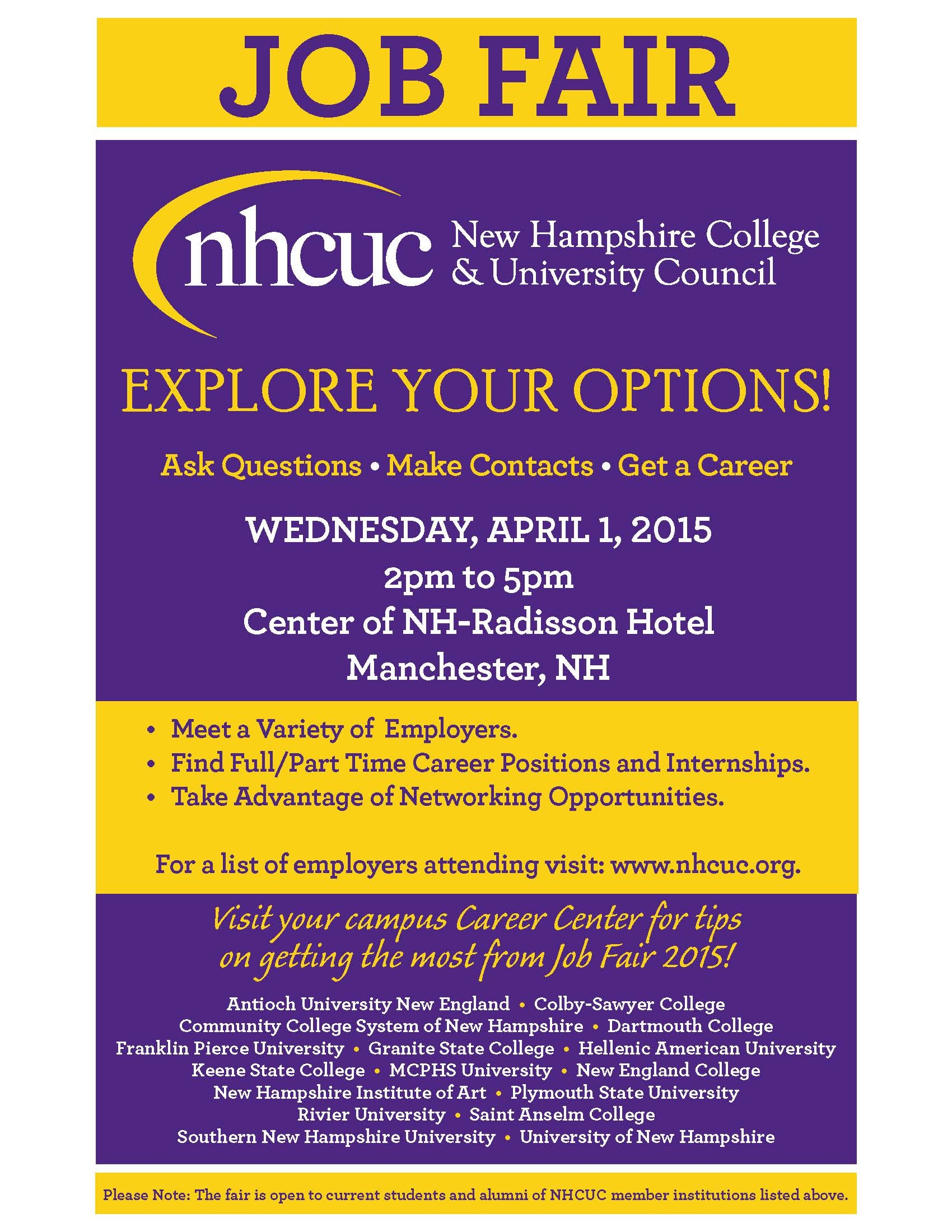 nhcuc job fair eraven job fair tips resources